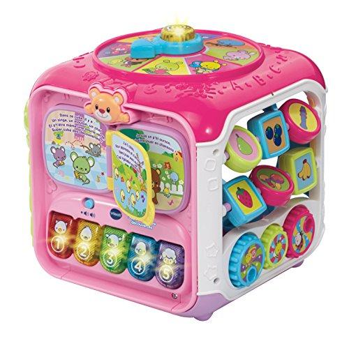 VTech- Super Cube des découvertes Rose, 183455 - Version FR