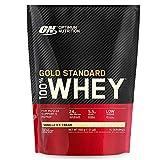 Optimum Nutrition ON Gold Standard 100% Whey Proteína en Polvo Suplementos Deportivos, Glutamina y Aminoacidos, BCAA, Helado de Vainilla, 15 Porciones, 450g, Embalaje Puede Variar