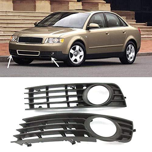 GUOQING Rejilla de luz antiniebla para Audi A4 B6 2002-2006 2 unids ABS delantera niebla lámpara rejilla reemplazo
