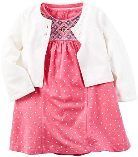 Carter's Baby Girls Dress 121h131 - Conjunto de Vestido para niña (6 m), Color Rosa