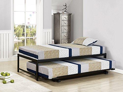 kings king bed frames Kings Brand Furniture Twin Size Black Metal Platform Bed With Pop Up Trundle