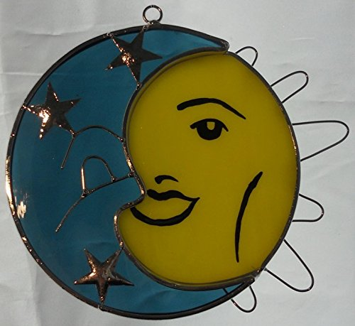 Sun and Moon Stained Glass Suncatcher