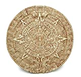 Culture Spot Aztec Solar Calendar Wall Art Relief with Stone Finish   17 Inches Diameter