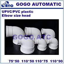 Fevas PVC Environmental Safety Elbow Size Head Drain Pipe Fittings O.D 50-110 mm 90 Degree Right Angle PVC Pipe Fittings Connector - (Color: PVC, Specification: 110-90)