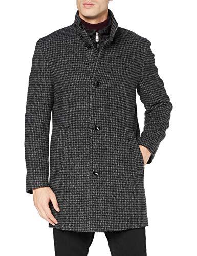 Bugatti Herren 621428-64028 Wollmantel, schwarz, 48