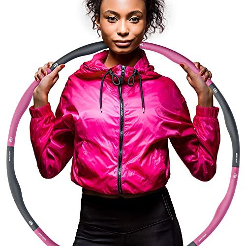 Weight Hoop, Hula Hoop Reifen Erwachsene 1,2kg, Fitness und Massage, Bauchtrainer, 6 – 8 Segmente verstellbar, Fitnessreifen, Sport - Trainingsgeräte,