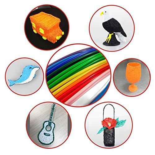 Tipeye 3D Stift Nachfüller 12 Farben 6,1 M, 3D Stifte Filament 1,75mm, 3D Stift Farben Set für ODRVM, Uvistare, Sunlu, PLUSINNO, QPAU, Lovebay, Nexgadget und dikale 3D Druckstift - 8