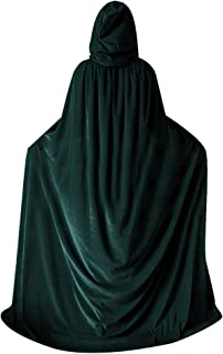 Unisex Halloween Velvet Cloak Witch Costume Hooded Party Raven Cosplay Capes