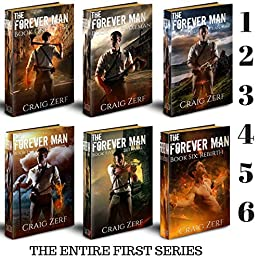 The Forever Man - first SIX books: An Epic, Post-apocalyptic, Urban Fantasy, Action Adventure Thriller by [Craig Zerf]
