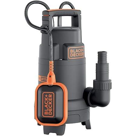 Black+DeckerBXUP750PTE Pompe Submersible Multifonction Eaux Claires et Eaux Sales (750W, Débit max. 1300l/h, Hauteur d'élévation 8 m)