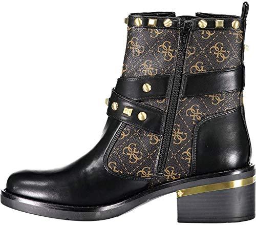 GUESS Fenix Botines/Low Boots Mujeres Negro/Marrón - 37 - Botas de caña Baja