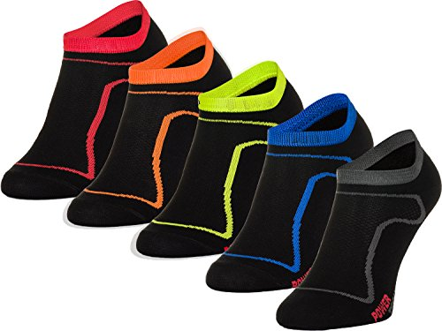 Freenord Funktionssocken Thermo Socken 5 PAK Radsport Running Fitness (5 Pack weiß, 43-46)