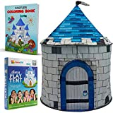 Nona Active Castle Play Tent - Easy to Set Up and Sturdy - for Kids Ages 3-12 - Indoor Play House