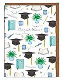 Tarjeta de graduación, tarjeta de felicitación, tarjeta para ella, tarjeta para él