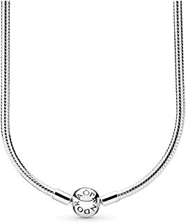Jewelry - Moments Snake Chain Charm Necklace for Women in Sterling Silver with No Stone