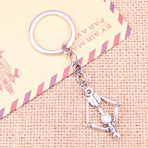 N/ Een Mode Sleutelhanger 20mm kruisboog Hangers DIY Mannen Sieraden Auto Sleutelhanger Ring Houder Souvenir Voor Gift