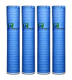 AMERIQUE 691322313741 800SQFT Wood, Bamboo & Laminate Flooring Underlayment Padding with Vapor Barrier 3-in-1, 2MM Thick, (800SF Total, Pack of 4 Rolls, 200SF/Roll), Royal Blue, 800 Square Feet