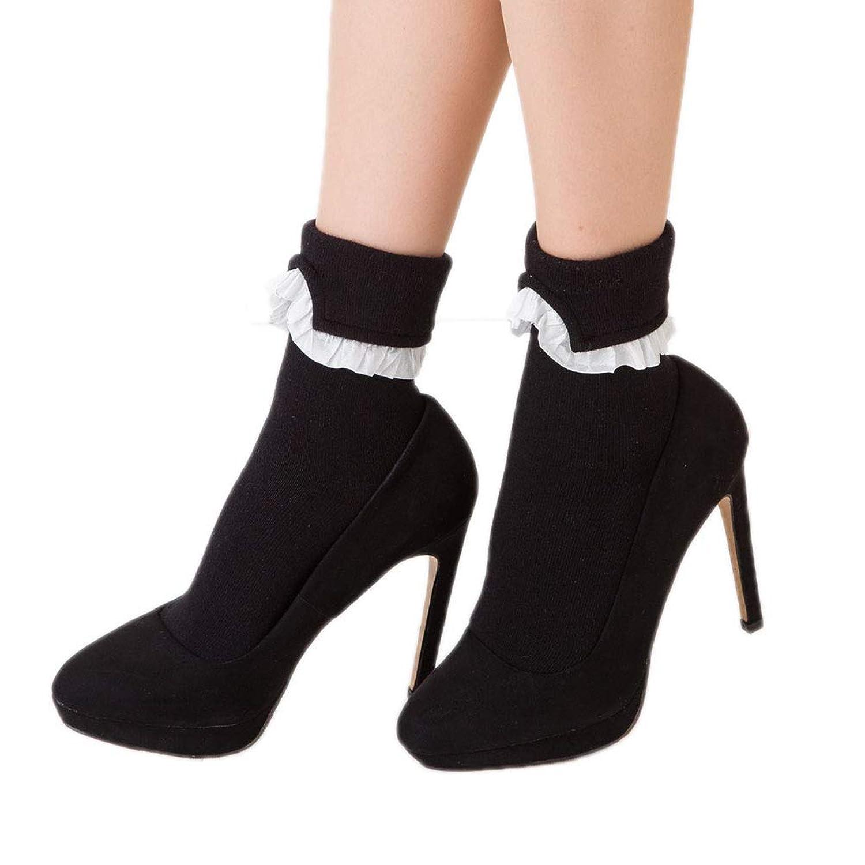 Doll Kiss 襟フリル クルーソックス (23-25cm)(日本製) 靴下 レディース ドールキス