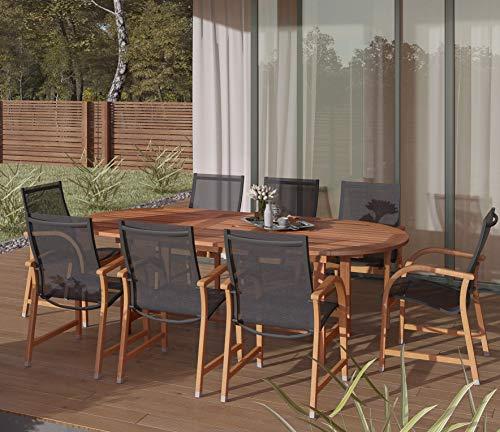 Hot Sale Amazonia Bahamas 9-Piece Eucalyptus Oval Dining Set