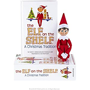 Elf on the Shelf : A Christmas Tradition Blue-Eyed Boy Light Tone Scout Elf! Elf and book included. - 51eKkPvE8xL - Elf on the Shelf : A Christmas Tradition Blue-Eyed Boy Light Tone Scout Elf! Elf and book included.