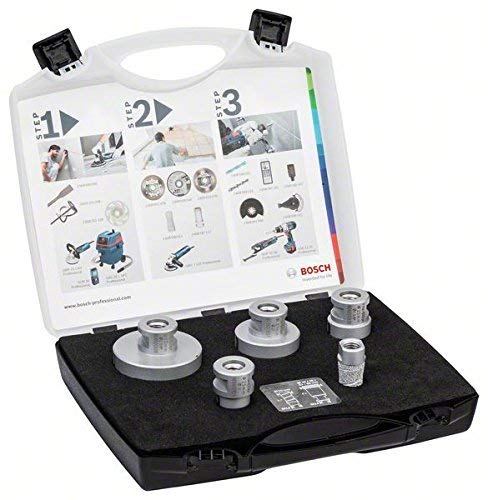 Preisvergleich Produktbild BOSCH 2608576669 Dryspeed / Milling Cutter Set (Tile Drill Bit for Angle Grinder)