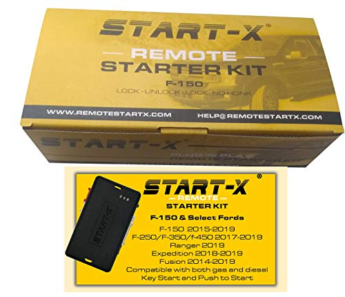 Start-X Remote Starter For Ford F-150 2015-2019, F-250 17-19, Ranger 2019, Expedition 18-19, Edge 16-19, Fusion 14-19 (NO HONK-LOCK-UNLOCK-LOCK)