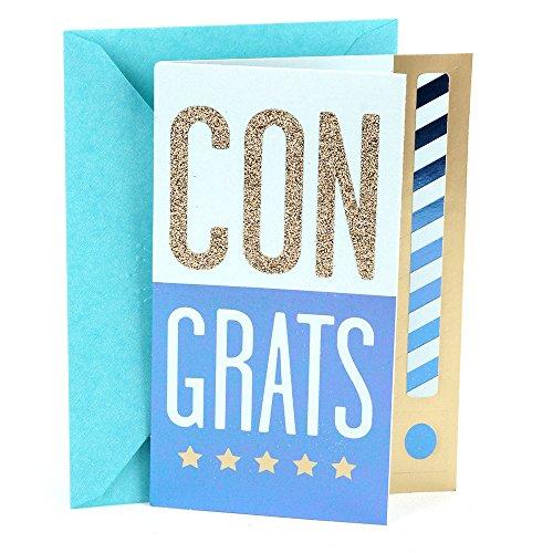 Hallmark Congratulations Card or Graduation Card (Congrats!, Blank Inside)
