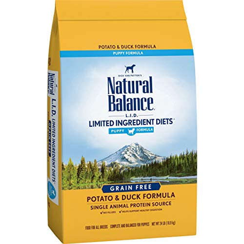 Natural Balance L.I.D. Limited Ingredient Diets Dry Puppy Food, Potato & Duck Formula, 24 Pounds