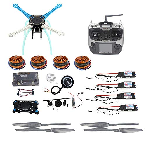 QWinOut APM2.8 DIY GPS Drone S500 PCB 500mm Multi-Rotor with 700KV Motor 30A ESC 6CH 9CH Transmitter NO Battery Charger (9CH TX RX)
