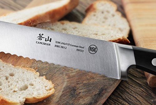 Cangshan V2 Series 59533 German Steel Forged Bread Knife, 8-Inch