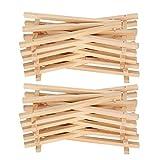 con superficie natural, mini caballete de exhibición de madera de 20 piezas,...