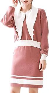 AngelSpace レディースバギースタイルミックスカラーニットラインスカートの衣装