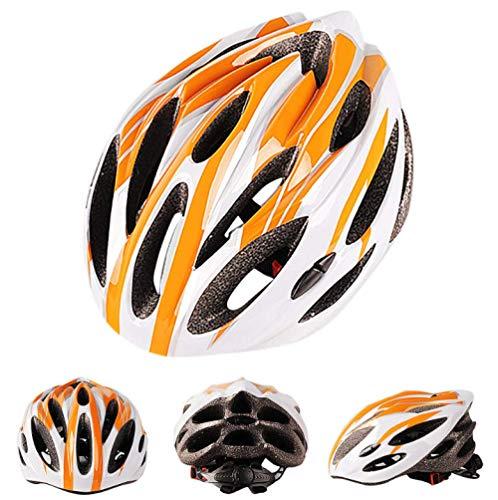 Pkfinrd Helm Fahrrad Radfahren Ultra Light Fahrradhelm Carbon Radfahren Schutz Fahrrad Radfahren Skate Helm Multicolor Mountainbike Fahrradhelm Orange 55Cmx61Cm