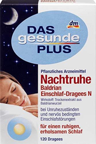 DAS gesunde PLUS Nachtruhe Baldrian Einschlaf-Dragees N, 120 St Arzneimittel