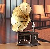 Gramófono antiguo modelo Europeo Decoresd Props tienda de decoración de hierro...