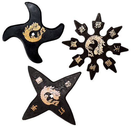 Ninja Stars - A Dozen Rubber Stars