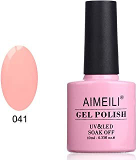 AIMEILI Soak Off UV LED Gel Nail Polish - Peachy (041) 10ml