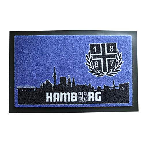 grau 1887  Streetwear Kapuzenjacke Zipper Zip Hoodie Old Hamburg