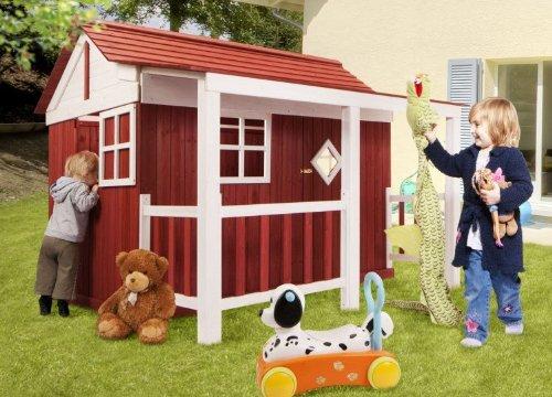 dynamic24 Holz Kinder Spielhaus Ida...