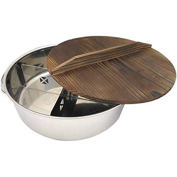 遠藤商事 業務用 丸型おでん鍋 (木蓋付) EOD01