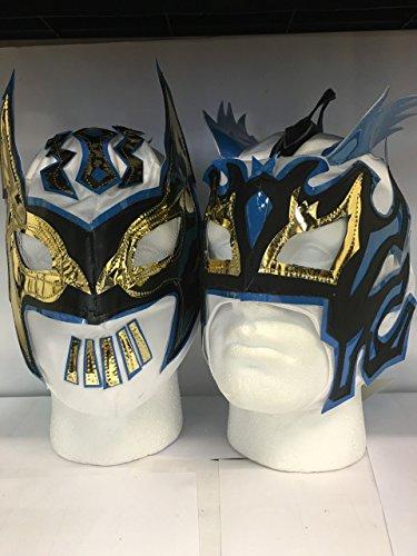Weiß Die Lucha Drachen Zip Up Kinder Wrestling Masken (beide im lieferumfang enthalten)