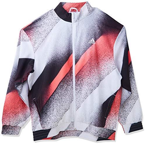 adidas Camiseta tejida Unleash Confidence para mujer - IYC54, Camiseta de tirantes tejida con confianza, XL, Blanco/Rosa/Negro/Negro