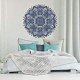 Tianpengyuanshuai Pegatinas de Pared de Dormitorio Mandala decoración de Dormitorio marroquí-Arte de Pared de Yoga Mandala Indio -75x75cm
