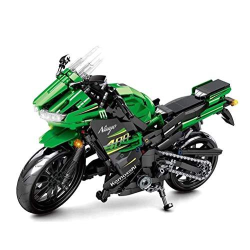 QXF-D Off-Road-Motorrad-Building Blocks Racing Motorrad-Bricks, Construction Set, Kindergeburtstagsgeschenk, Geeignet for Sammlung (862 Stück) für Erwachsene Jugendliche und Kinder
