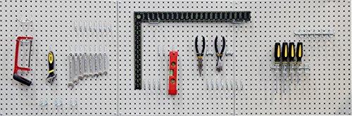 Seville Classics Werkzeug Lochwand, 182.9 x 60.9 cm, grau