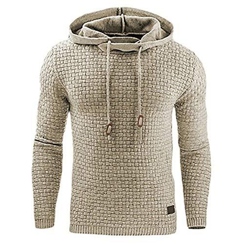 MEIbax Sudadera con capucha para hombre básica Sudaderas deportivas Outwear Tops Sudadera...