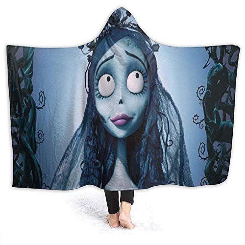 Henry Anthony Corpse Bride con Capucha Cool Warm Oversized Cloak Cape Corpse Bride Blanket Throw with Hood para Hombres Mujeres Ninos