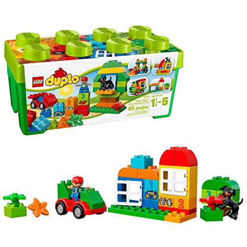 LEGO DUPLO All-in-One-Box-of-Fun Building Kit 10572 Open Ended Toy for Imaginative Play with Large Bricks Made for Toddlers and preschoolers (65 Pieces)