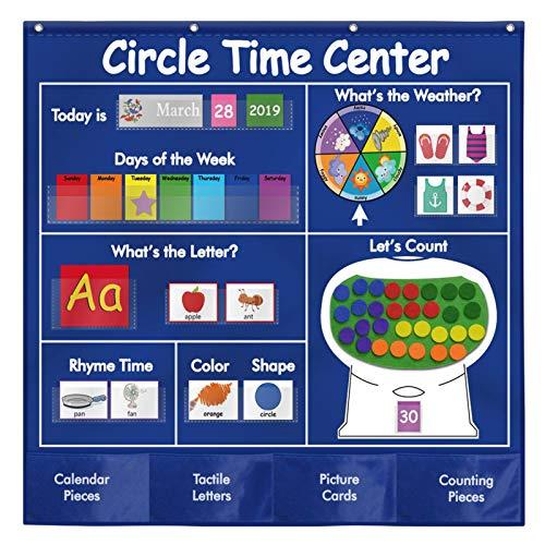My Firsts Kids Calendar, juego de tablas de aprendizaje preescolar para niños Calendario meteorológico: regalo ideal para Navidad y cumpleaños, para el hogar y la escuela.