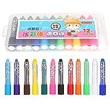 Lápices de colores solubles en agua, fáciles de agarrar con ceras sedosas coloridas y giratorias, diseñadas para colorear libros para niños